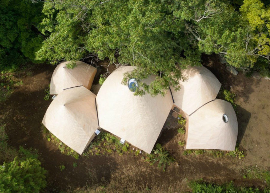 Five-teepee-shaped-buildings-by-architect-Issei-Suma-make-up-the-complex-900x643