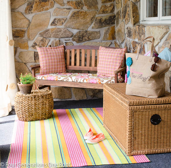 foyer-summer-upate-with-pink-striped-rug-2